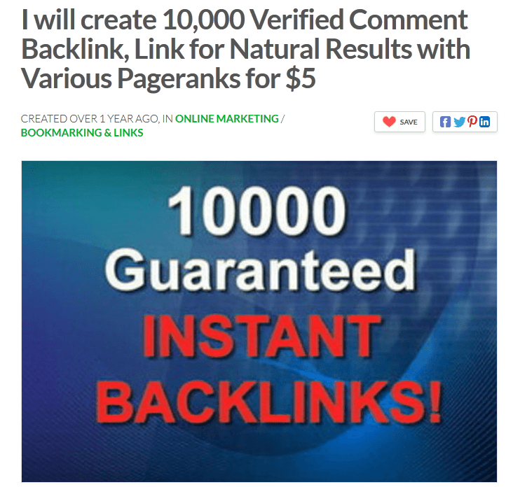 10000 Gauranteed Instant Backlinks on Fiverr