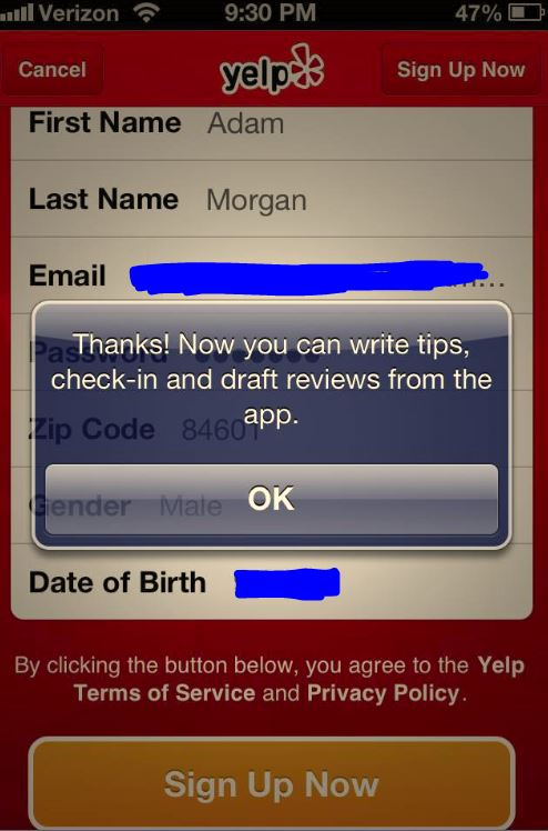 Add Reviews On Yelp Directly From The Mobile App