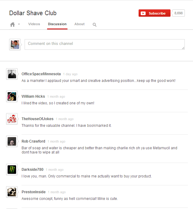 Dollar Shave Club   YouTube