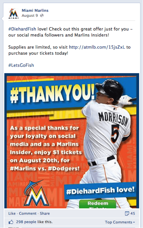 Marlins Facebook Status