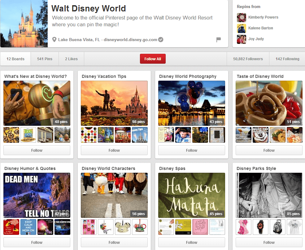 Walt Disney World Page