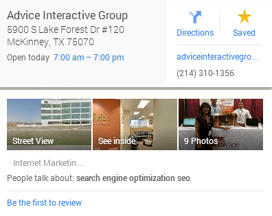 Advice Interactive Group Google Business Photo