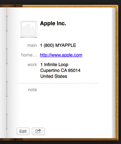 apple address book