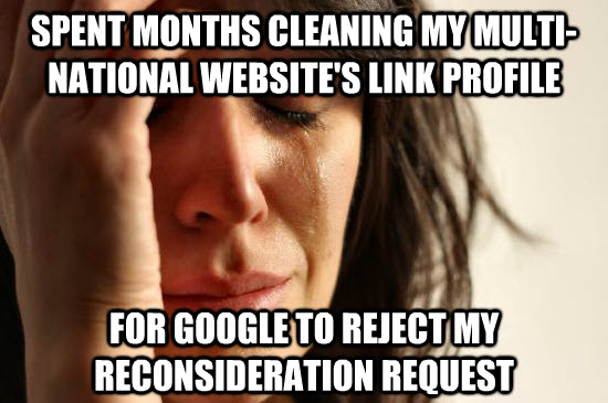 Removing a 16 Month Google Penalty – There is Hope Yet