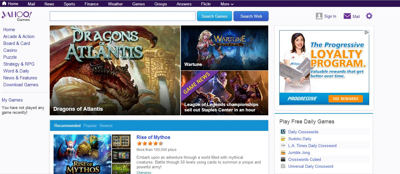 yahoo games facelift