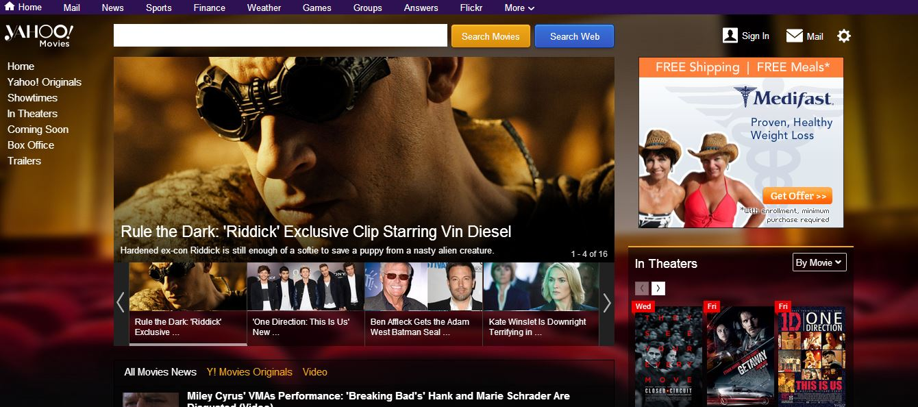 yahoo movies facelift