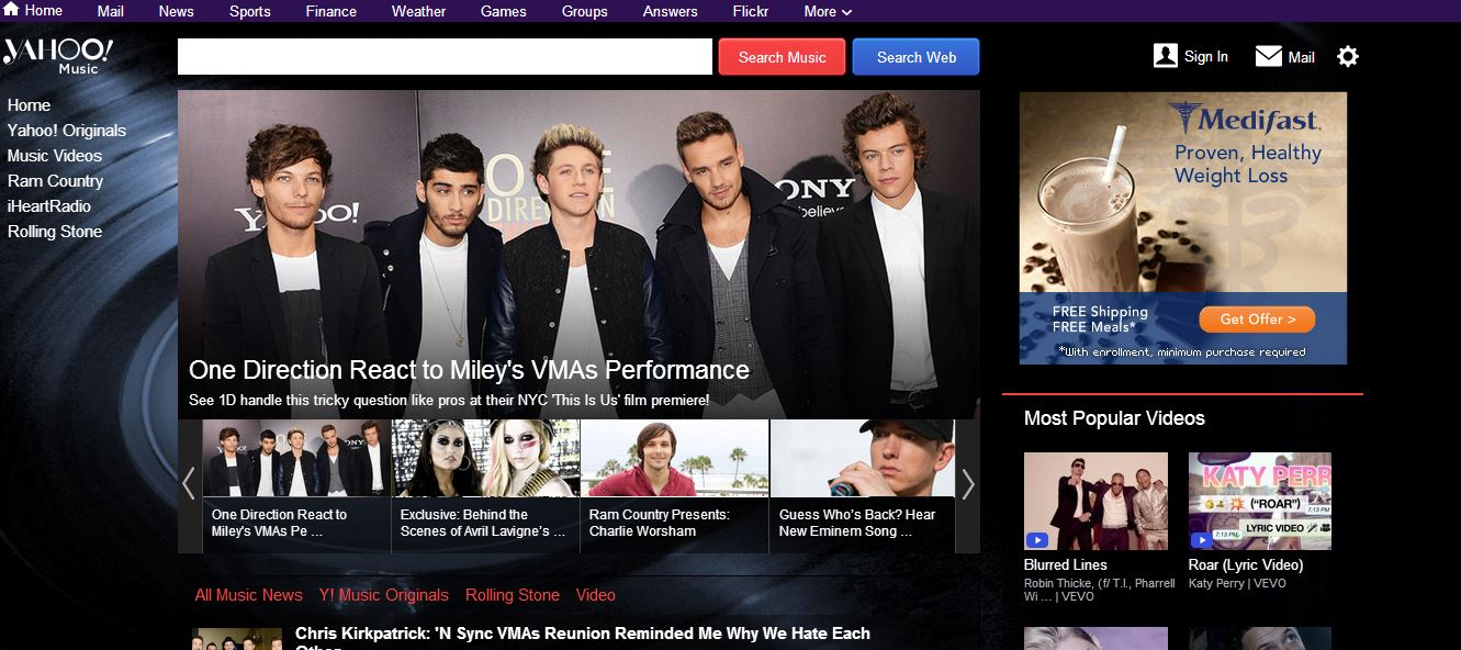 yahoo music facelift