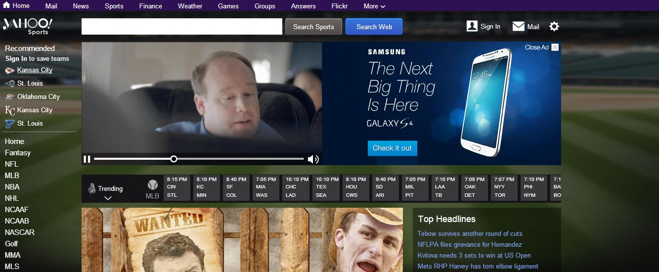 yahoo sports facelift