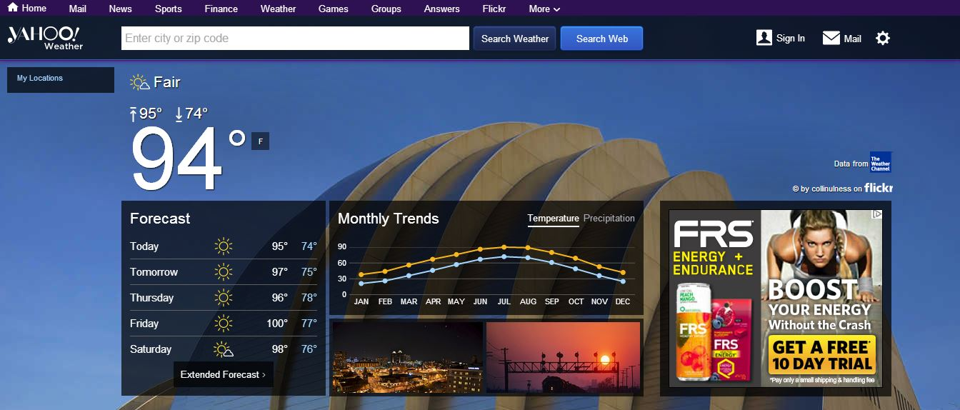 yahoo weather facelift
