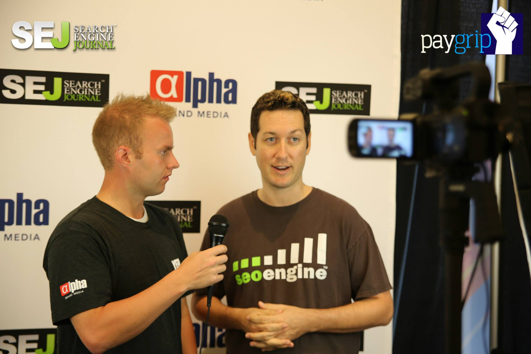 John Rampton interviewing Scott Stouffer, CEO of SEOEngine
