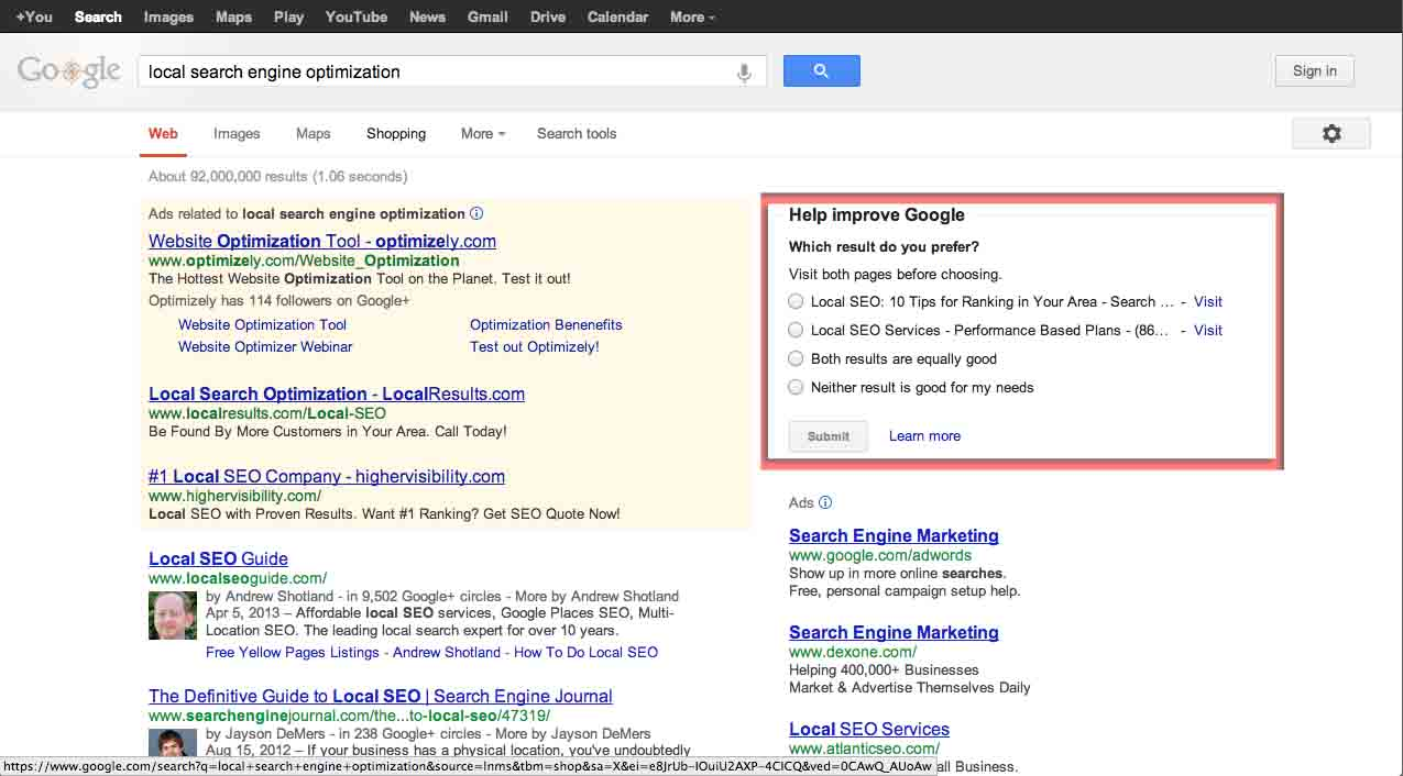 How Google Collects Search Quality Date