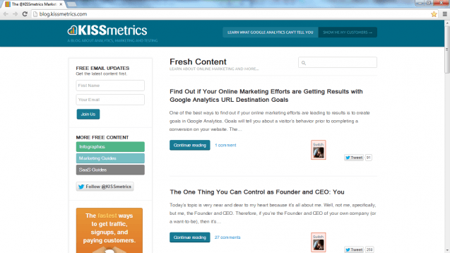 KISSmetrics Blog