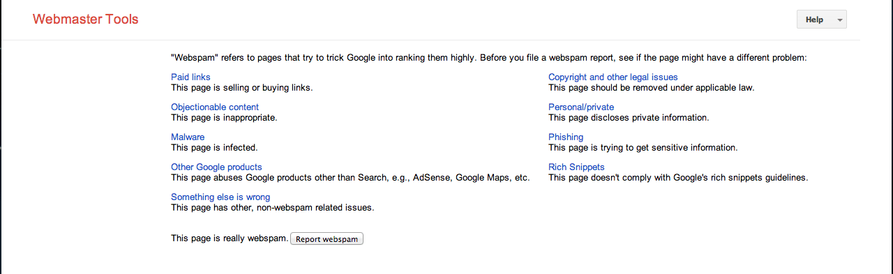 SERP-Spam-Report