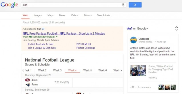 Google Starts Supporting Google+ Hashtags In Search Queries
