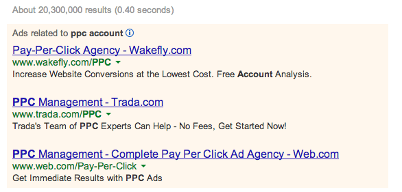 ppc accounts