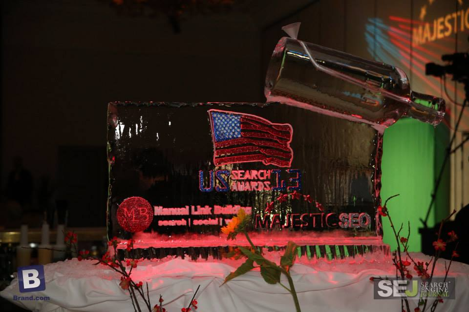 Vodka ice luge at the US Search Awards