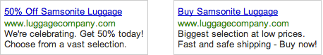 AdWords Ads - Competitors are better