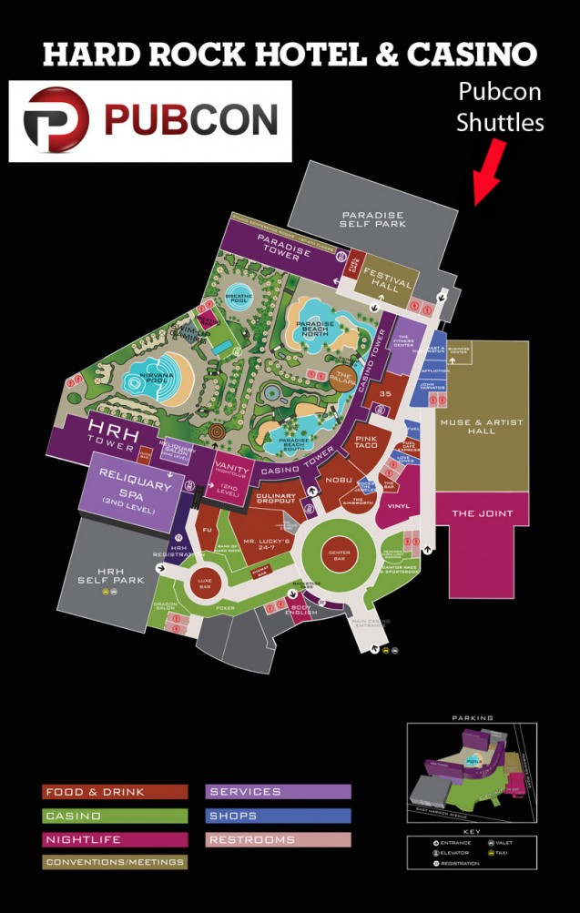 Hard Rock Pubcon Shuttle Location