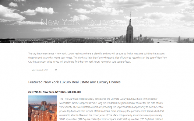 New York Luxury Real Estate
