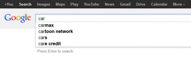 carmax google suggest