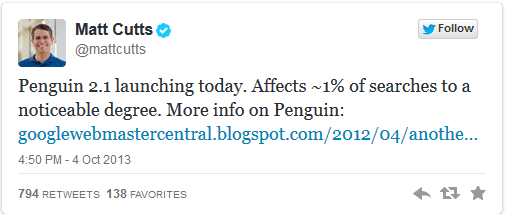 Matt Cutts Penguin 2.1