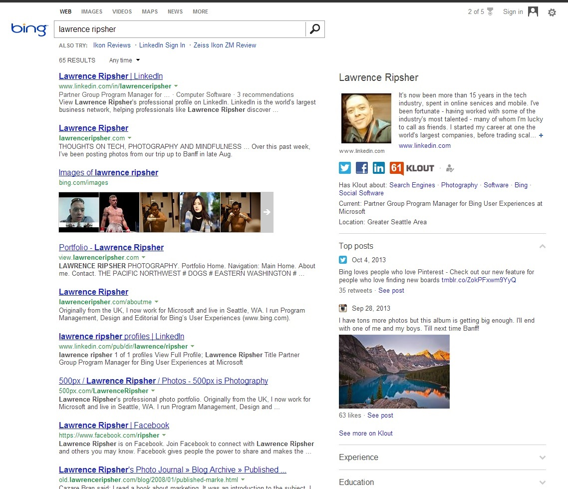 Now You Can Claim Your Authorship On Bing With New Klout Integration