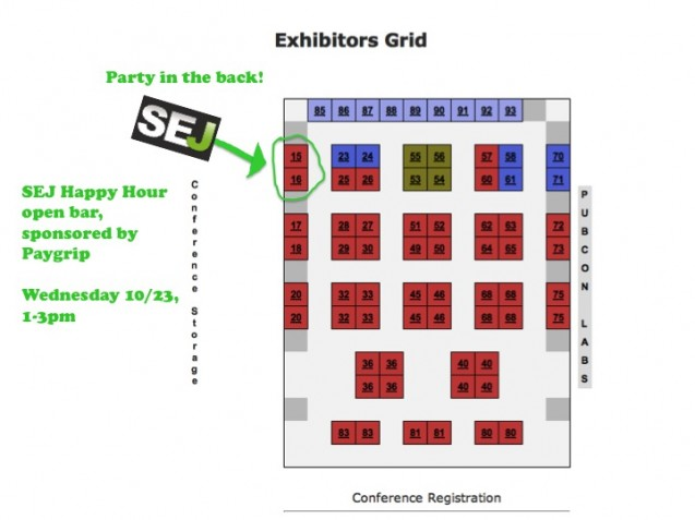 Pubcon Exhibit Hall hours: 10/23-24, 9:45am to 3:30pm