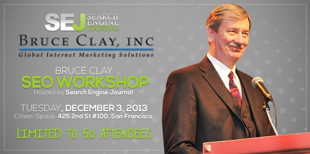 Search Engine Journal Hosts: An SEO Workshop by Bruce Clay