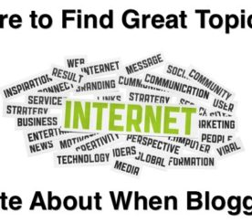 Where to Find Great Topics to Write About When Blogging