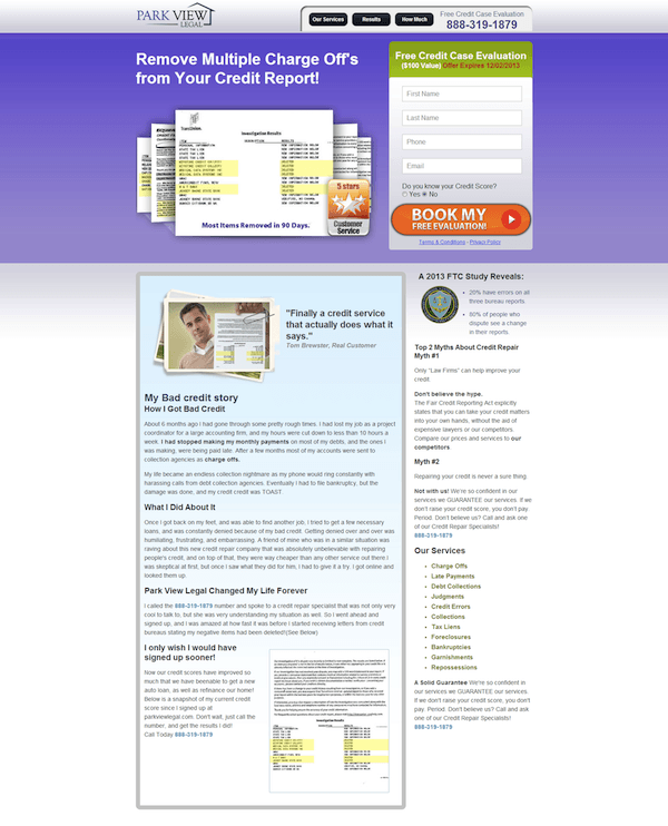 parkview-landing-page