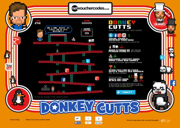 Be Matt Cutts in this Donkey Kong-inspired SEO Video Game