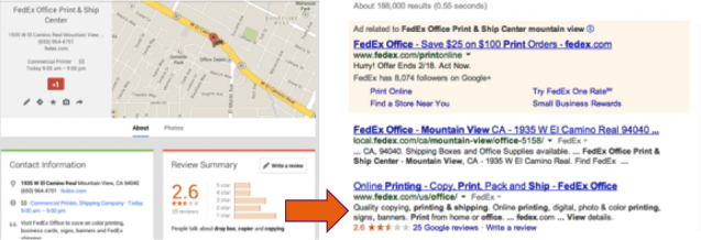 Google Local Screen Shot