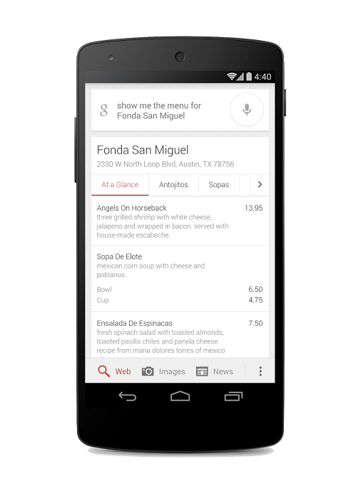 Google Has Added OneBox Restaurant Menus To Search Results Pages