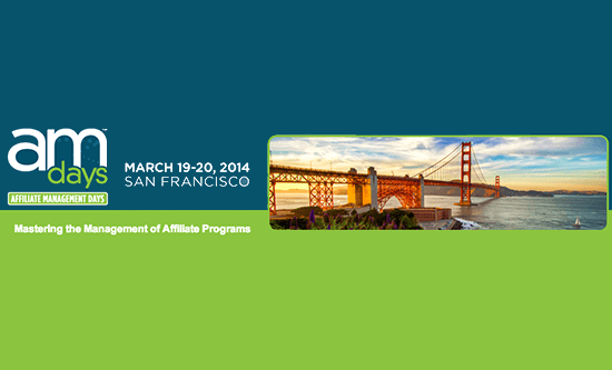 Editor John Rampton Speaking at Affiliate Management Days: March 19 & 20 in San Francisco
