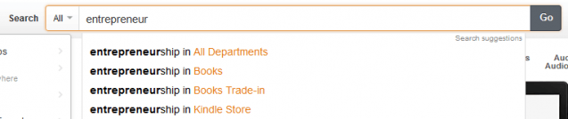 amazon categories search