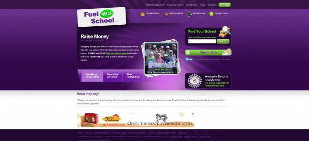 Fuel My School Site
