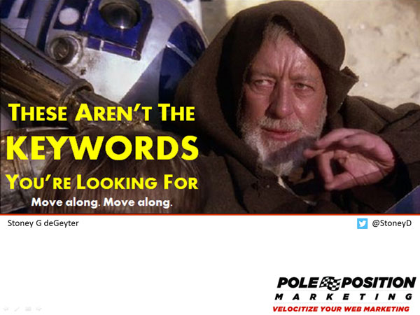 Obi Wan Not The Keywords You're Looking For