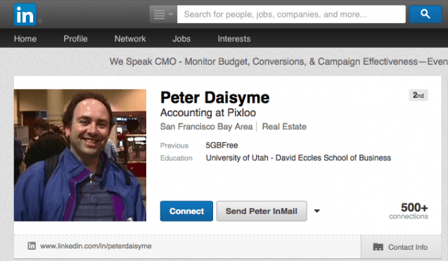 Peter Daisyme Linkedin Screenshot 3.24.14
