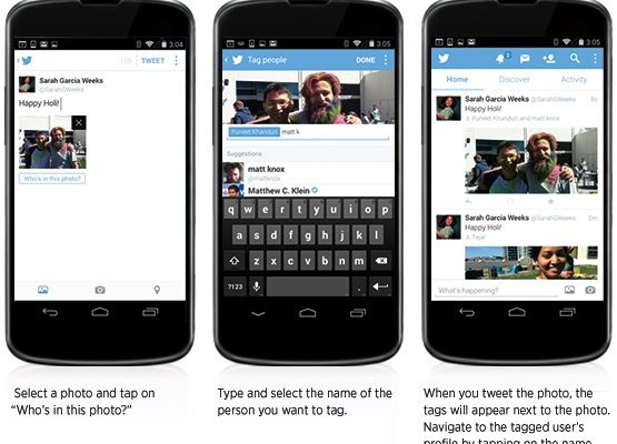 Twitter Adds Photo Tagging And Collages To iOS And Android Apps
