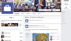 new facebook page design