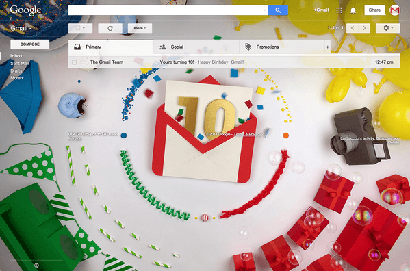 Happy 10th Anniversary Gmail: The Top 10 Things That You Should Know