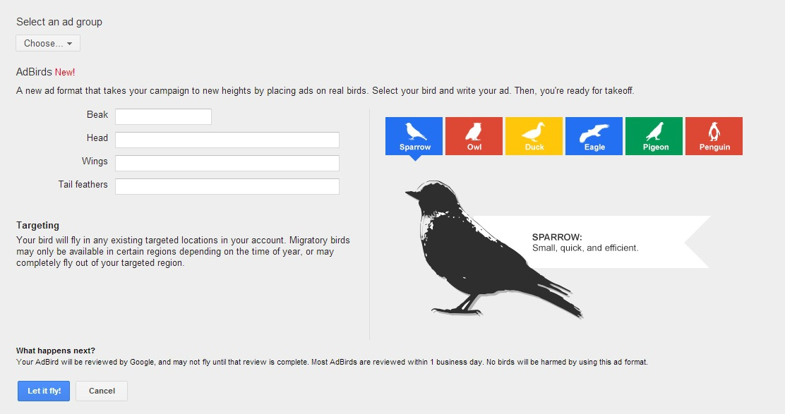 Google Releases New Ad Format: AdBirds