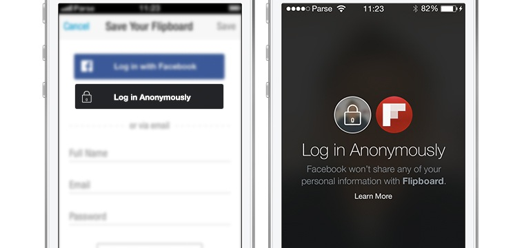 Facebook Introduces Anonymous Login For Connected Apps