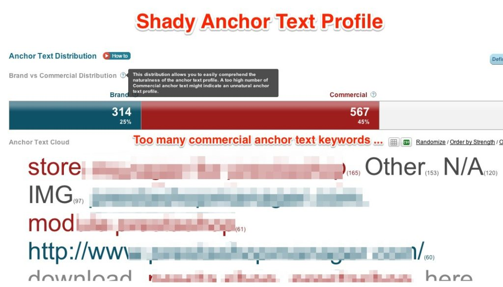 Shady Anchor Text Profile
