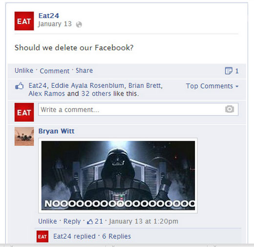 A Breakup Letter to Facebook from Eat24