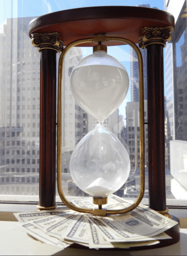 Time is money (taken from my office in November 2013)