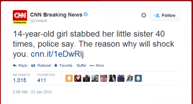 Twitter   cnnbrk  14 year old girl stabbed her ...