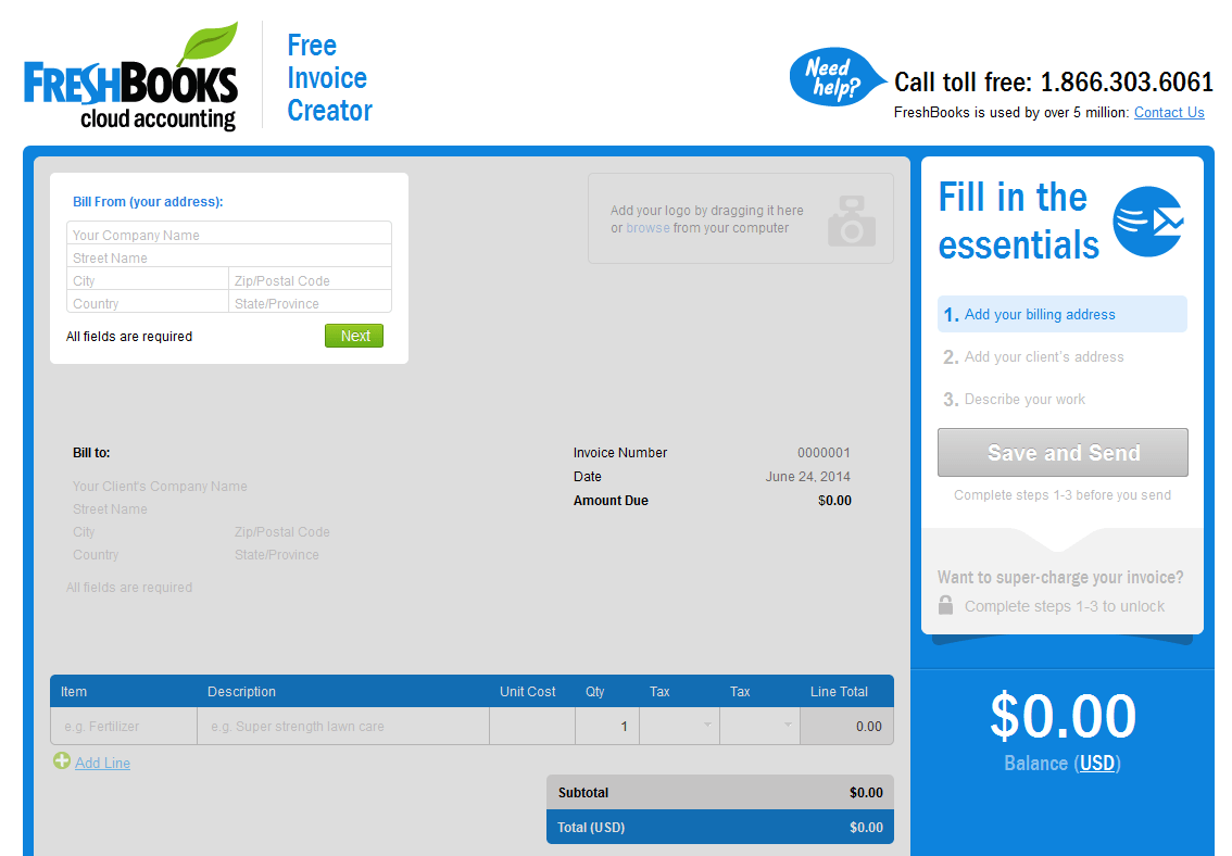 Exceptional 2014 06 24 19_42_07 Free Online Invoice Creator U0026 Custom Invoice Template By  Custom Invoice Software