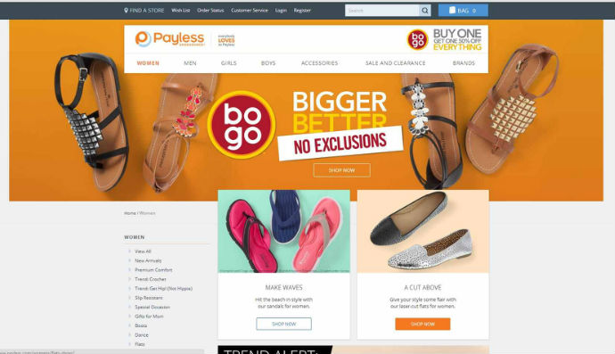 Payless Shoes CTAs