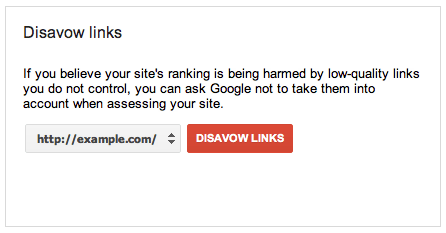 Disavow Webmaster Tools